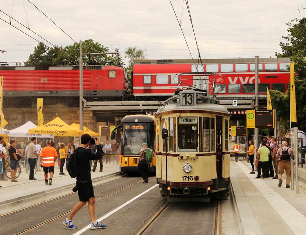 Dresden straßenbahn in Strassenbahn in